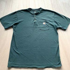 Carhartt Green T-shirt Tee Top Mens Large Tall